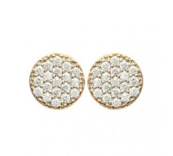 Disc - Gold-Plated Earrings