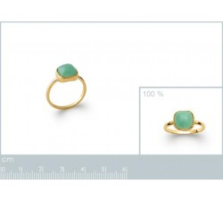 Cabochon Aventurine - Gold-Plated Ring-alt