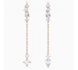Attract - White Rose-Gold - Earrings - Swarovski