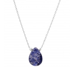 Gemstones - Dumortierite - Stainless Steel Necklace