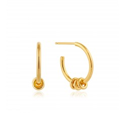 3 Rings - Hoop Earrings - Gold Plated - Ania Haie