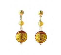 Frida - Amber - Earrings - Antica Murrina