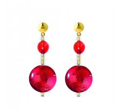 Frida - Red Gold - Earrings - Antica Murrina