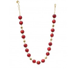 Frida - Red Gold - Necklace - Antica Murrina