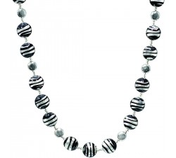 Frida - Black and White - Necklace - Antica Murrina