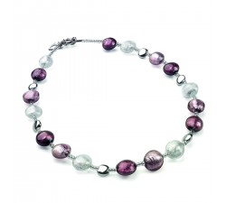 Frida - Purple - Necklace - Antica Murrina