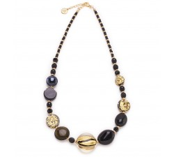 Isabel - Black - Necklace - Antica Murrina