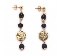 Isabel - Black -  Dangle Earrings - Antica Murrina