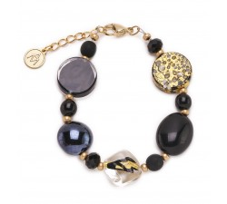 Isabel - Black - Bracelet Top - Antica Murrina