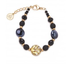 Isabel - Black - Bracelet Basic - Antica Murrina