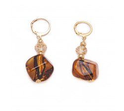 Isabel - Amber - Earrings - Antica Murrina