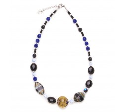 Sofi - Black & Blue - Necklace - Antica Murrina