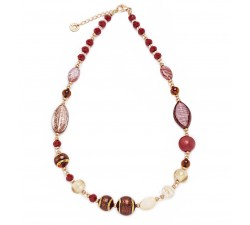 Gisele - Red - Necklace - Antica Murrina