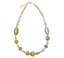Gisele - Green - Necklace - Antica Murrina
