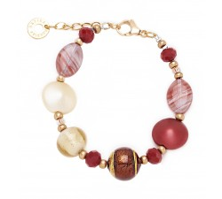 Gisele - Red - Bracelet - Antica Murrina