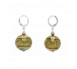 Gisele - Green - Earrings - Round - Antica Murrina