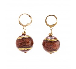 Gisele - Red - Earrings - Round - Antica Murrina
