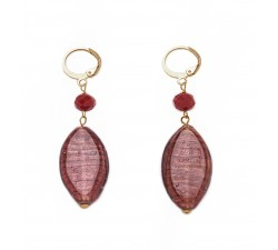 Gisele - Red - Earrings - Oval - Antica Murrina