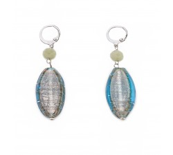Gisele - Green - Earrings - Oval - Antica Murrina