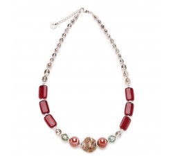 Megan - Red - Necklace - Antica Murrina
