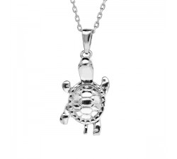 Turtle - Sterling Silver - Necklace-alt