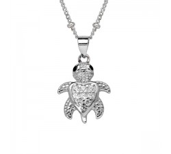 Turtle - Sterling Silver - Children's Necklace