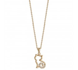 Cat - Gold-Plated - Necklace-alt