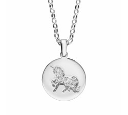 Unicorn - Medal - Sterling Silver - Necklace