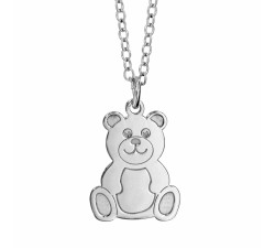 Bear Cub - Sterling Silver - Children's Necklace