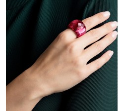 Nirvana - Red Rose-Gold - Ring - Swarovski-alt