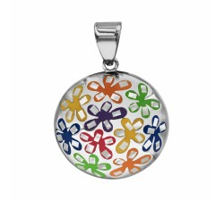 Flowers - Domed - Necklace - Stella Mia