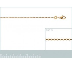 Cable Chain - Gold-Plated Necklace - Thin-alt