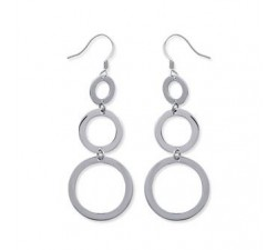 Circles - Stainless Steel Earrings