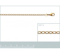 Curb Chain - Necklace - Gold-Plated-alt