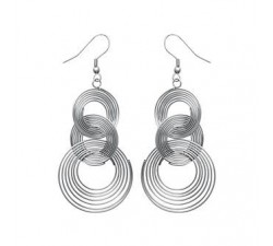 Intertwined Rings - Stainless Steel Earrings