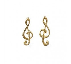 G Clef - Gold-Plated Earrings
