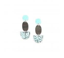 Curacao - Three Parts - Earrings - Nature Bijoux