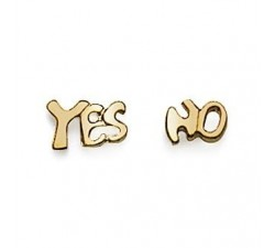 Yes or No - Gold-Plated Earrings