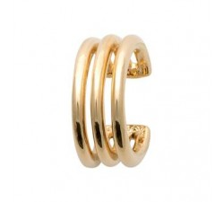 Ear Cuff - 3 Rows - Gold-Plated