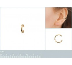 Ear Cuff - Ribbed - Gold-Plated-alt