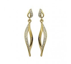 Flame - Gold-Plated Earrings