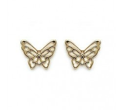 Butterfly - Gold-Plated Earrings