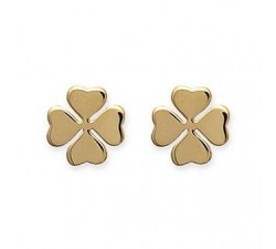 Clover - Gold-Plated Earrings
