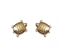 Turtle - Gold-Plated Earrings