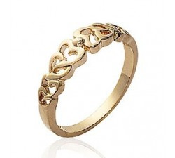 Hearts - Gold-Plated Ring