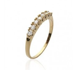 Band Zirconia - Gold-Plated Ring