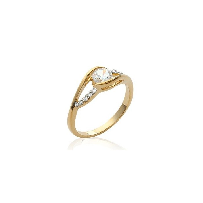 Solitaire - Gold-Plated Ring