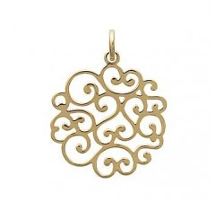 Lace - Gold-Plated Pendant