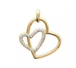 Hearts - Gold-Plated Earrings
