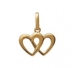 Hearts - Gold-Plated Pendant